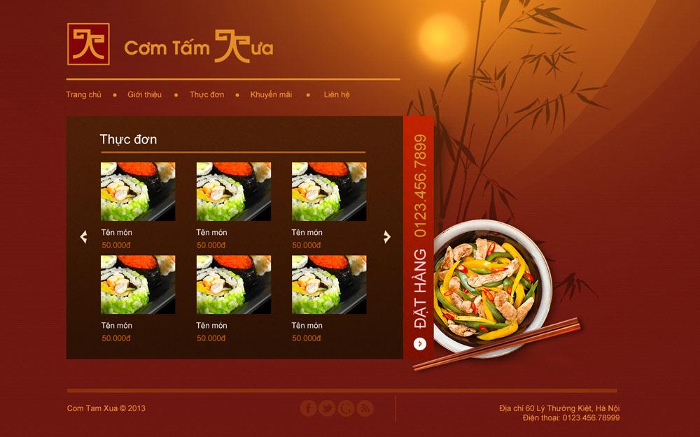 Com tam xua - Thiet ke Web Piodio 2