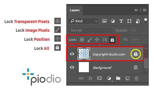 Lock Layer Photoshop piodio
